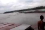 Kinh hoàng khoảnh khắc tàu bị đâm chìm trên sông Hồng, 4 người chết