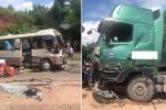 Xe tải tông xe khách, 10 người thương nặng ở Sơn La