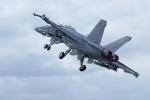 Chiến cơ Hải quân Mỹ bốc cháy trên không rồi lao xuống biển