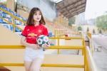 Ngắm nữ sinh An ninh khỏe khoắn trong trang phục thể thao