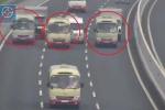 Clip: 3 xe khách ngông nghênh dàn hàng ngang trên cao tốc Hà Nội - Hải Phòng