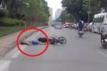 Clip: Thanh niên phóng xe máy lạng lách và cái kết đắng