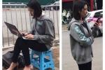 Nu phong vien Han Quoc xinh dep tac nghiep tren via he Ha Noi khien dan mang 'truy lung' la ai? hinh anh 1