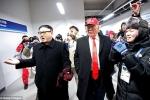 Video: Bản sao ông Trump, ông Kim Jong-un xuất hiện bên lề Thế vận hội mùa đông 2018