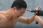 Video: Cao thủ Thiếu lâm dùng đầu đọ độ cứng với máy khoan