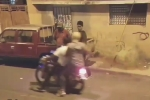 Video: Hùng hổ cầm dao đi cướp, bị lột cả điện thoại lẫn xe máy