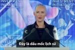 Clip: Sophia cảm ơn Quốc vương Arab Saudi khi được cấp quyền công dân