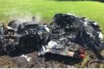 Về với chủ mới chưa được 1 tiếng, siêu xe Ferrari đã cháy rụi