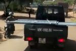 Chở 'lưỡi hái tử thần' phóng vun vút trên đường, tài xế xe tải bị phạt 3 triệu đồng
