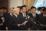 Tổng Bí thư đọc điếu văn xúc động tiễn đưa nguyên Thủ tướng Phan Văn Khải