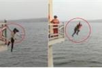 Clip: Lính cứu hỏa lao xuống sông cứu cô gái tự tử