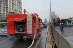 Tong vao container, xe giuong nam boc chay ngun ngut o duong vanh dai 3 tren cao hinh anh 4