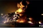 Cháy lớn tại Khu công nghiệp Nội Bài lúc nửa đêm
