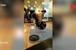 Video: Bụng bầu vượt mặt vẫn nâng tạ hơn 60kg