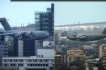 Rùng rợn clip máy bay khổng lồ lao sát tòa nhà chọc trời