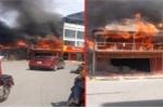 Bất cẩn khi hàn xì, một nhà hàng bị lửa thiêu rụi ở Hà Nội