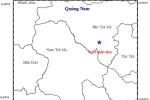Liên tiếp xảy ra động đất ở Quảng Nam