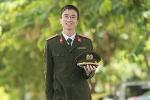 Nam sinh viên duy nhất của Học viện An ninh được phong hàm Trung uý năm 2016