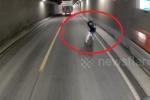 Khoảnh khắc thoát chết thần kỳ của người đàn ông trong hầm cao tốc