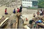 Clip: Trẻ em Lai Châu liều mình lao ra vớt củi giữa dòng lũ