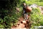 Ảnh: Nông dân Lạng Sơn gánh na xuống núi từ vách đá cheo leo