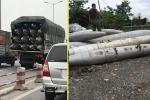 Hai xe tải chở vật thể lạ nghi bom đi trên phố: Bộ Quốc phòng vào cuộc