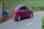 Clip: 'Ô tô điên' lấn làn, hất bay người đi xe máy rồi bỏ chạy ở Hải Phòng