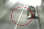 Clip: Lợn nặng 150 kg 'đào tẩu' gây tai nạn liên hoàn trong hầm