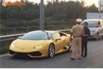Siêu xe Huracan của Cường Đô la bị CSGT 'hỏi thăm'