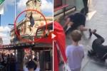 Video: Fan cuồng đội tuyển Anh nhảy sập trạm xe bus khi ăn mừng chiến thắng