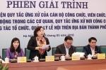 Giải trình việc hàng loạt cán bộ, công chức Hà Nội bị kỷ luật