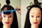 Cắt tóc mái cho búp bê và cái kết hài té ghế