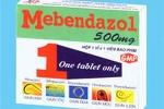 Đình chỉ lưu hành lô thuốc viên nén tẩy giun Mebendazol