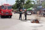 Xe máy Airblade phát nổ, 3 người thoát nạn