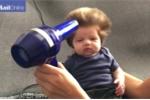 Bé trai 2 tháng tuổi sở hữu mái tóc bông xù gây 'sốt' cộng đồng mạng