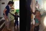 Clip cô giáo cầm dép đánh liên tiếp vào đầu trẻ gây phẫn nộ