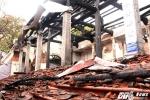 Xót xa cảnh tượng đổ nát sau vụ cháy chùa Tĩnh Lâu