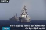 Video: 26 tàu chiến Nga bắn đạn thật trên Địa Trung Hải