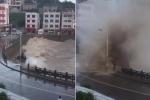 Clip: Bão Maria đổ bộ, sóng khổng lồ tấn công Trung Quốc