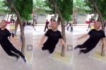 Clip: Người đàn ông treo cổ lên cây, tập thể dục theo cách không tin nổi