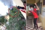 Clip cháy trường học ở An Giang, học sinh hò reo vui sướng gây tranh cãi