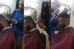 Choáng váng xem cắt tóc bằng búa và dao thái thịt