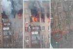 Clip: Rơi từ tầng 8 tòa nhà bốc cháy ngùn ngụt, người phụ nữ sống sót thần kỳ