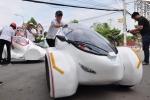 Sinh viên chế tạo xe 4 bánh chạy 200km chỉ một lít xăng