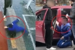 Clip: Ném đá vào ô tô, bé trai bị tài xế bắt quỳ, tự tát vào mặt mình
