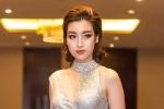 Hoa hậu Đỗ Mỹ Linh cực gợi cảm với đầm ánh kim cắt xẻ táo bạo