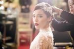 Hoa hậu Kỳ Duyên diện váy cưới đính kim cương 3 tỷ đồng