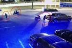 Cướp cầm kiếm lùa bảo vệ, tháo trộm camera của ô tô trong 30 giây ở Hà Nội