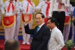 Video: Chủ tịch nước Trần Đại Quang đánh trống khai giảng năm học mới