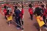 Clip: Ngáng đường cảnh vệ Hoàng gia Anh, nữ du khách Trung Quốc lĩnh trái đắng